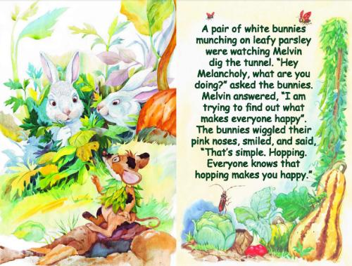 Melvin asked the bunnies
